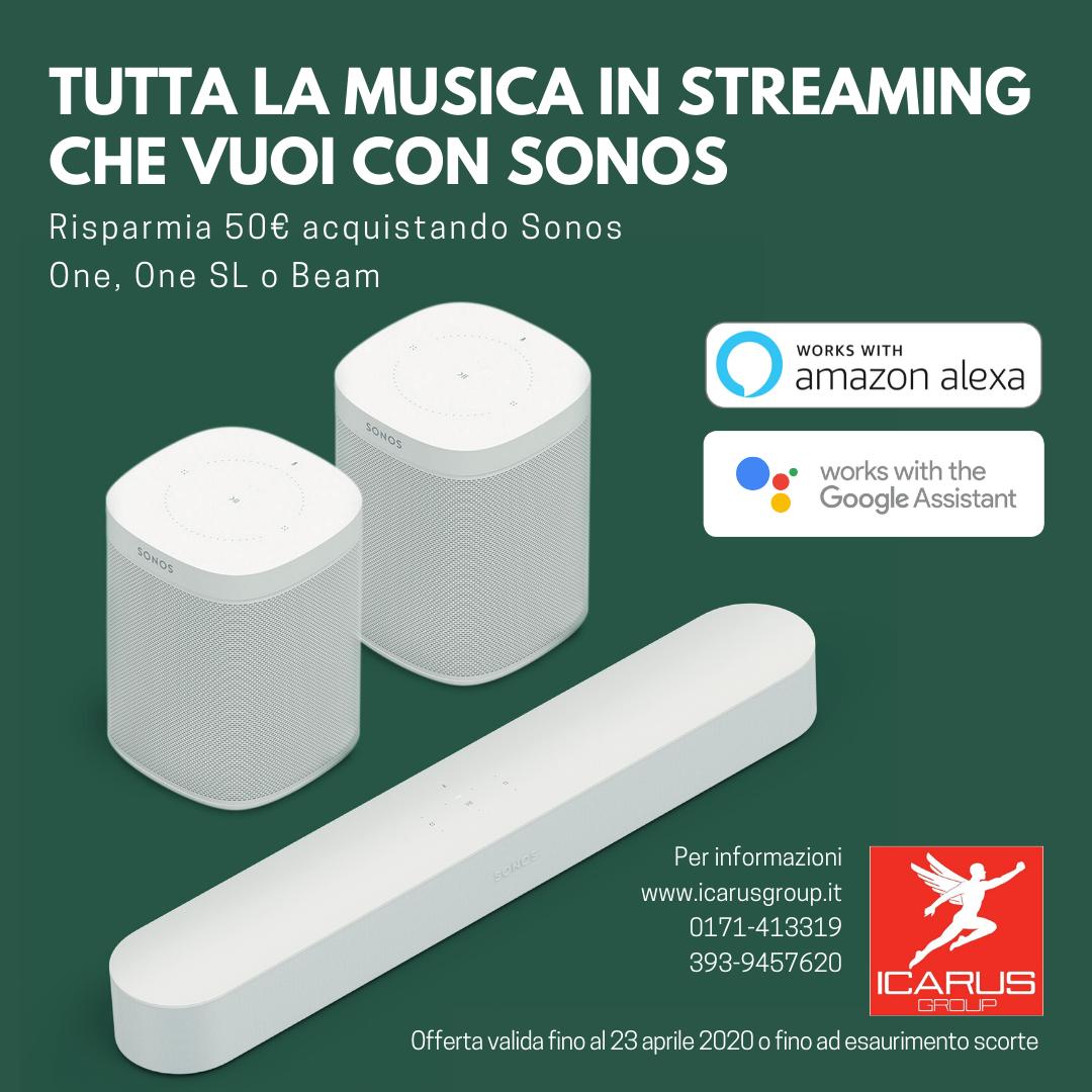 Promo: Tutta la musica in streaming che vuoi con SONOS